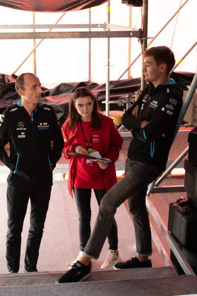 George Russell, Williams Racing, and Robert Kubica, Williams Racing