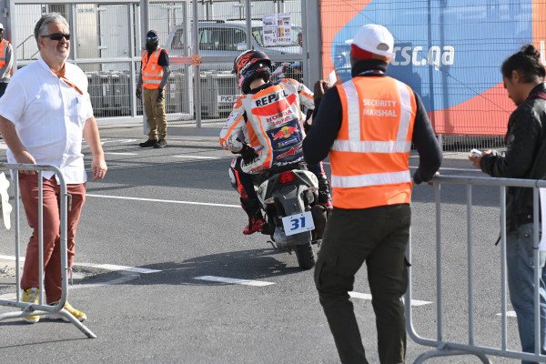 Jorge Lorenzo, Repsol Honda Team, after crash.