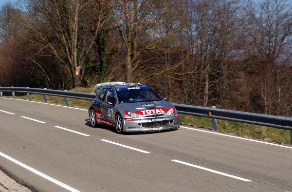 2002 World Rally ChampionshipRally Catalunya, 21st-24th March 2002.Gilles Panizzi on stage 11.Photo: Ralph Hardwick/LAT