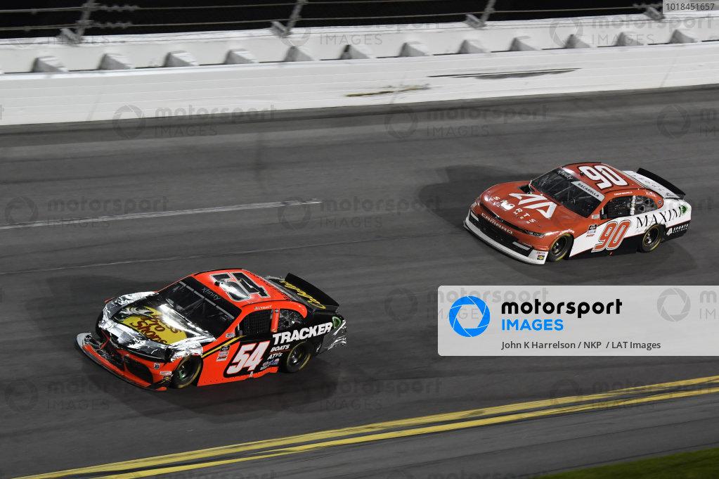 #54: Ty Dillon, Joe Gibbs Racing, Toyota Supra Bass Pro Shops #90: Caesar Bacarella, DGM Racing, Chevrolet Camaro