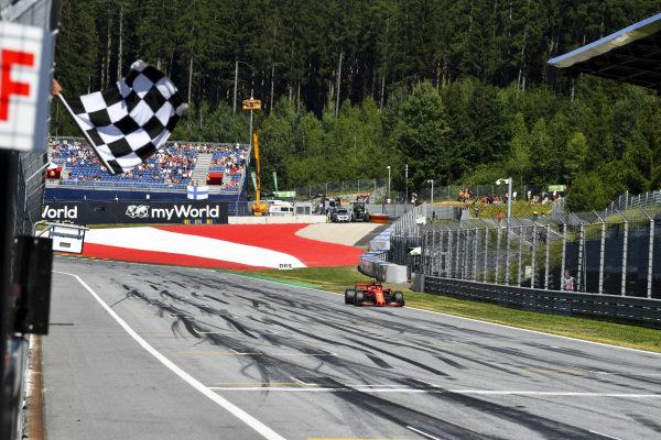 Charles Leclerc, Ferrari SF90, takes pole position