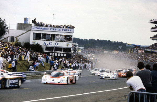 Start of the race.
