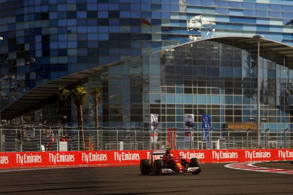 Kimi Raikkonen (FIN) Ferrari F14 T. Formula One World Championship, Rd16, Russian Grand Prix, Qualifying, Sochi Autodrom, Sochi, Krasnodar Krai, Russia, Saturday 11 October 2014.
