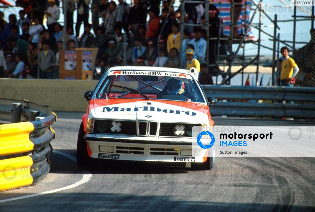 Gerhard Berger (AUT) drove in the touring car race using a BMW 635. Already his links with BMW were well forged.  Macau Grand Prix for Touring Cars, Hong Kong, November 1985.