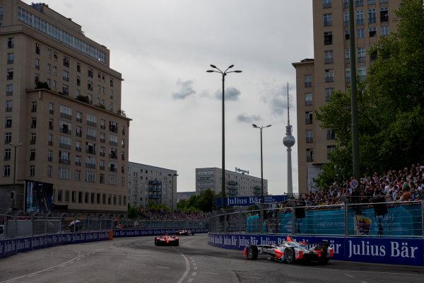 2015/2016 FIA Formula E Championship. Berlin ePrix, Berlin, Germany. Saturday 21 May 2016. Bruno Senna (BRA), Mahindra Racing M2ELECTRO  Photo: Zak Mauger/LAT/Formula E ref: Digital Image _79P3045