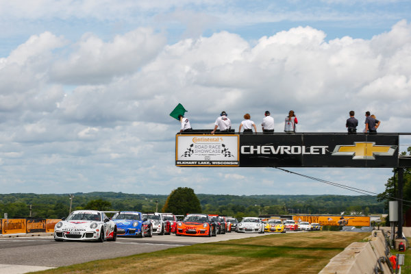 5-7 August 2016, Elkhart Lake, Wisconsin USA IMSA GT3 Cup USA Race 2 Start ?2016, Jake Galstad LAT Photo USA