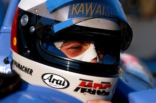 Overall race winner Michael Schumacher (GER) Reynard 903-Volkswagen. International Formula Three, Macau Grand Prix, 25 November 1990.
