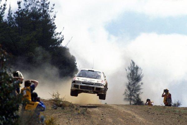 1995 World Rally Championship.Australian Rally, Australia. 15-18 September 1995.Kenneth Eriksson/Staffan Parmander (Mitsubishi Lancer Evo3), 1st position.World Copyright: LAT PhotographicRef: 35mm transparency 95RALLY11