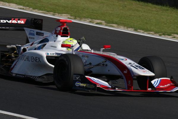 2017 Japanese Super Formula. Okayama, Japan. 27th - 28th May 2017. Rd 2. Race 2 Winner Yuhi Sekiguchi ( #19 ITOCHU ENEX TEAM IMPUL SF14 ) action World Copyright: Yasushi Ishihara / LAT Images. Ref: 2017SF_Rd2_Race2_006