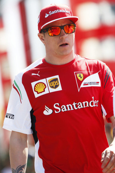 Circuit de Catalunya, Barcelona, Spain. Friday 9 May 2014. Kimi Raikkonen, Ferrari. World Copyright: Charles Coates/LAT Photographic. ref: Digital Image _N7T8367