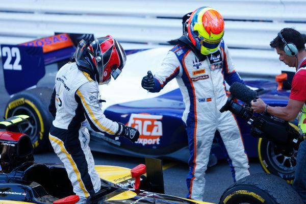 2014 GP2 Series Round 3 - Race 2 Monte Carlo, Monaco. Saturday 24 May 2014. Stephane Richelmi (MON, DAMS) & Sergio Canamasas (CAN, Trident)  Photo: Alastair Staley/GP2 Series Media Service. ref: Digital Image _79P3941