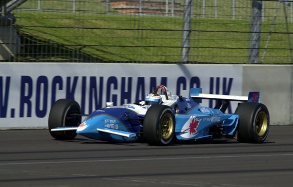 Alex Tagliani, (CAN), Ford-Cosworth/Reynard, was fastest in practice, but ninth in qualifying for the Rockingham 500.  Rockingham Motor Speedway, Corby, GBR.  13  Sept., 2002. CC15A