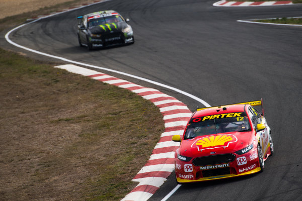 2017 Supercars Championship Round 2.  Tasmania SuperSprint, Simmons Plains Raceway, Tasmania, Australia. Friday April 7th to Sunday April 9th 2017. Fabian Coulthard drives the #12 Shell V-Power Racing Team Ford Falcon FGX. World Copyright: Daniel Kalisz/LAT Images Ref: Digital Image 070417_VASCR2_DKIMG_0716.JPG