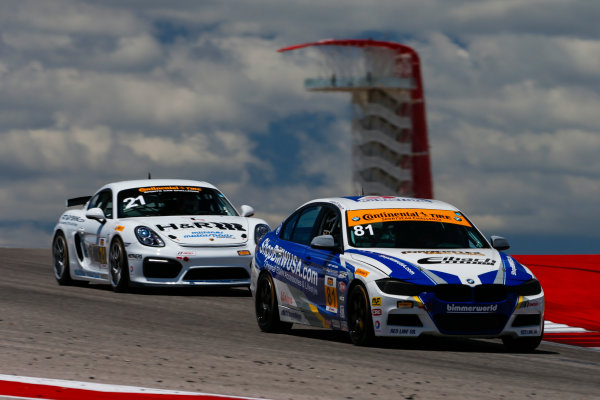 IMSA Continental Tire SportsCar Challenge Advance Auto Parts SportsCar Showdown Circuit of The Americas, Austin, TX USA Thursday 4 May 2017 81, BMW, BMW 328i, ST, Ari Balogh, Greg Liefooghe World Copyright: Jake Galstad LAT Images