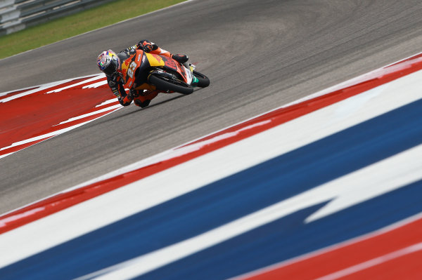 2017 Moto3 Championship - Round 3 Circuit of the Americas, Austin, Texas, USA Friday 21 April 2017 Niccolo Antonelli, Red Bull KTM Ajo World Copyright: Gold and Goose Photography/LAT Images ref: Digital Image Moto3-500-1499