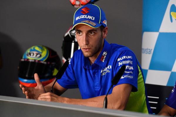 2017 MotoGP Championship - Round 14 Aragon, Spain. Thursday 21 September 2017 Alex Rins, Team Suzuki MotoGP World Copyright: Gold and Goose / LAT Images ref: Digital Image 693421