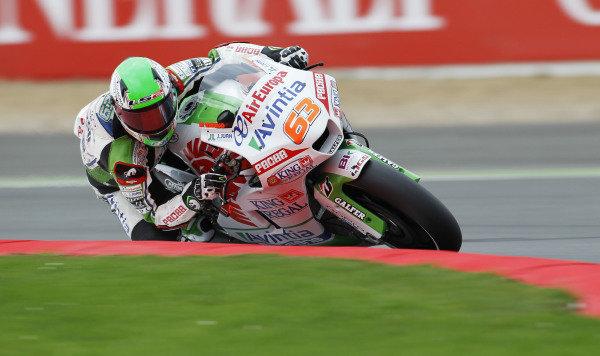 2014 MotoGP Championship  British Grand Prix.  Silverstone, England. 29th - 30st August 2014.  Mike Di Meglio, Avintia FTR-Kawasaki.  Ref: _W1_5480. World copyright: Kevin Wood/LAT Photographic