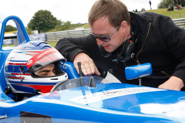 2014 British F3 International Series, Thruxton, England. 16-17 August 2014. Camren Kaminsky (USA) Double R Racing Dallara Mercedes. World Copyright: Ebrey / LAT Photographic.