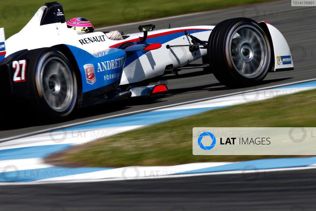 FIA Formula E Test Day, Donington Park, UK.  9th - 10th July 2014.  Franck Montagny, Andretti Autosport. Photo: Glenn Dunbar/FIA Formula E ref: Digital Image _89P4681