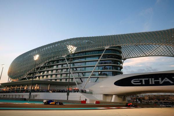 Yas Marina Circuit, Abu Dhabi, United Arab Emirates. Sunday 29 November 2015. Marcus Ericsson, Sauber C34 Ferrari. World Copyright: Steven Tee/LAT Photographic ref: Digital Image _X0W6773