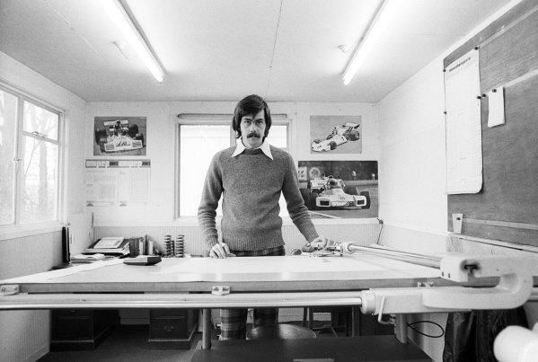 Gordon Murray (RSA) Brabham Designer applies his trade at the Brabham MRD headquarters.