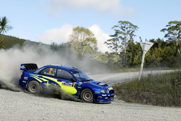 2004 FIA World Rally Champs. Round four, Propecia Rally New Zealand.15th-18th April 2004.Mikko Hirvonen Subaru, action.World Copyright: McKlein/LAT