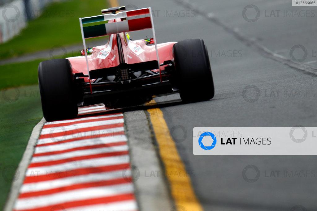 Albert Park, Melbourne, Australia 25th March 2011. Felipe Massa, Ferrari 150° Italia. Action.  World Copyright: Glenn Dunbar/LAT Photographic ref: Digital Image _G7C3166