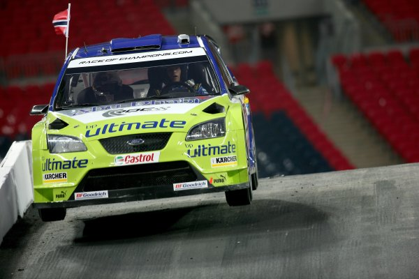 2007 Race of Champions - SaturdayWembley Stadium, London. 14th December.Petter Solberg, Ford Focus WRC, Action.World Copyright: Malcolm Griffiths/LAT Photographicref: Digital Image IMG_5565
