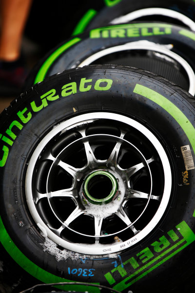 Shanghai International Circuit, Shanghai, China.  Friday 07 April 2017. Intermediate tyres. World Copyright: Andy Hone/LAT Images ref: Digital Image _ONZ4399