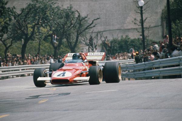 1971 Spanish Grand Prix.  Montjuich Park, Barcelona, Spain. 16-18th April 1971.  Jacky Ickx, Ferrari 312B, 2nd position.  Ref: 71ESP17. World Copyright: LAT Photographic