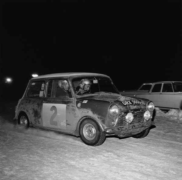 Timo Makinen/Paul Easter, Mini-Cooper S, 1st position overall, but was later disqualified for illegal lights, action.  World Copyright:LAT Photographic. Ref: 31999