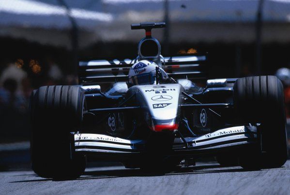 2002 Monaco Grand Prix.Monte Carlo, Monaco. 23-26 May 2002.David Coulthard (McLaren MP4/17 Mercedes) 1st position at Casino.Ref-02 MON 20.World Copyright - LAT Photographic