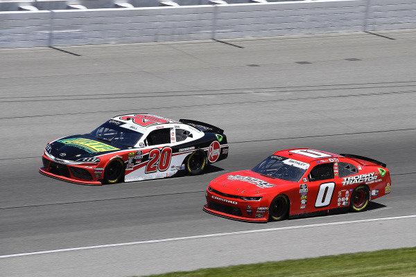 #20: Christopher Bell, Joe Gibbs Racing, Toyota Supra Rheem / RTP, #0: Garrett Smithley, JD Motorsports, Chevrolet Camaro Victory Lane