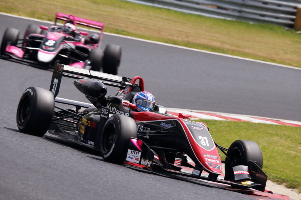 Round 7. Sena Sakaguchi, Corolla Chukyo Kuo TOM'S Dallara F317 Toyota, 3rd. Photo by Masahide Kamio
