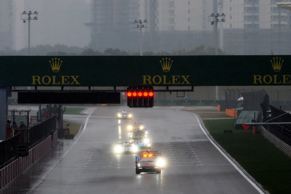 Safety Car Start at for the race due to the rain