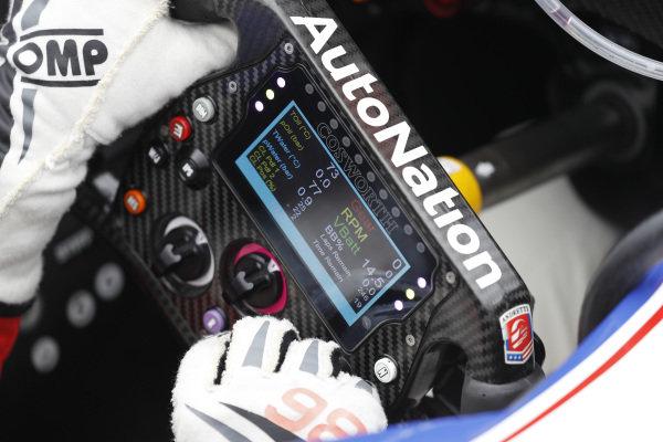 Ryan Hunter-Reay, Andretti Autosport Honda steering wheel