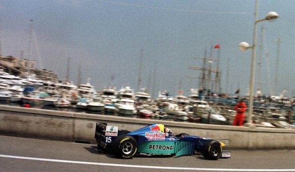 Monaco Grand Prix.Monte Carlo, Monaco.16-19 May 1996Heinz-Harald Frentzen (Sauber C15 Ford).World Copyright - LAT Photographic