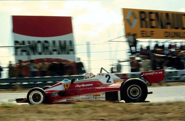 1976 Dutch Grand Prix.Zandvoort, Holland.27-29 August 1976.Clay Regazzoni (Ferrari 312T) 2nd position.World Copyright - LAT Photographic