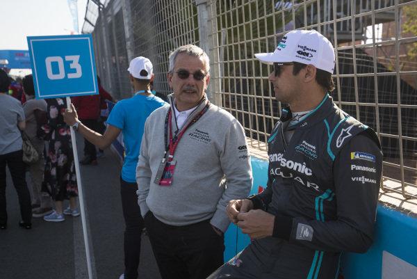Nelson Piquet Jr. (BRA), Panasonic Jaguar Racing, on the grid