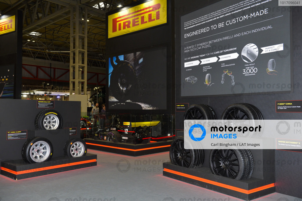 The Pirelli stand.