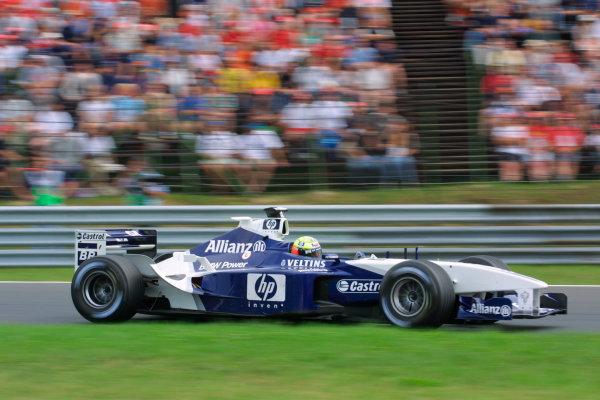 2002 Hungarian Grand Prix - Friday PracticeHungaroring, Budapest, Hungary. 16th August 2002Ralf Schumacher (Williams FW24-BMW).World Copyright - LAT Photographicref: digital file