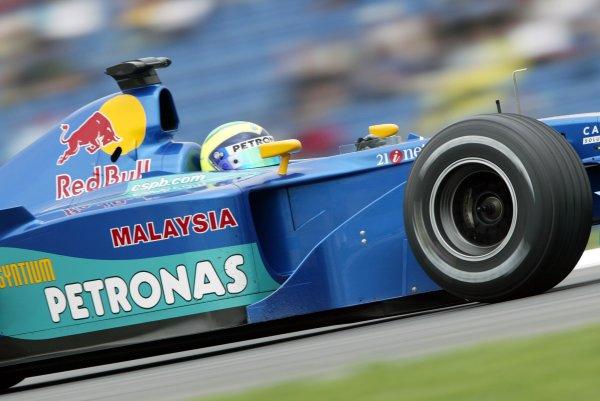 2002 German Grand Prix - PracticeHockenheim, Germany. 26th July 2002.Felipe Massa (Sauber C21 Petronas).World Copyright: Steve Etherington/LATref: Digital Image Only