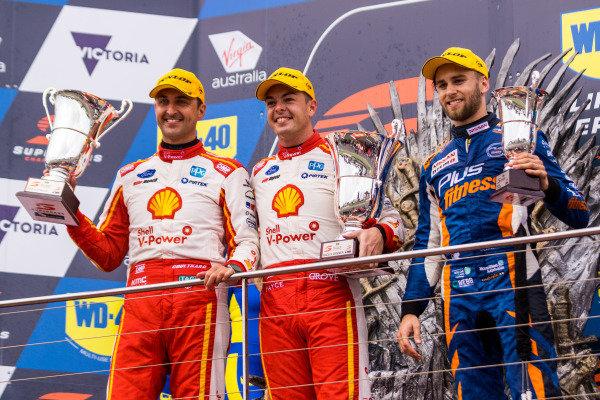 Fabian Coulthard, DJR Team Penske Ford, Scott McLaughlin, DJR Team Penske Ford, Andre Heimgartner, Kelly Racing Nissan