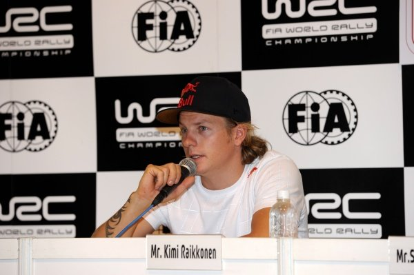 Kimi Raikkonen (FIN) at the pre event press conference.