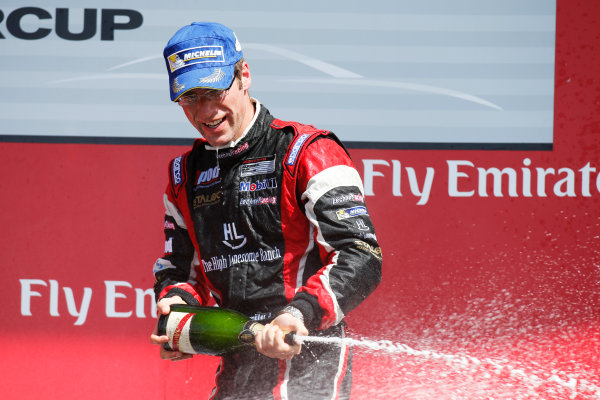 2014 Porsche Supercup. Sunday 2 November 2014. Michael Ammermuller, No.4 Lechner Racing Team, 1st Position. World Copyright: /LAT Photographic. ref: Digital Image _W2Q7178