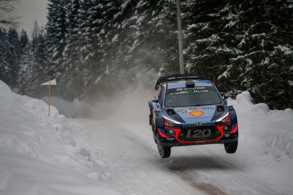2018 FIA World Rally Championship, Round 02, Rally Sweden 2018, February 15-18, 2018. Thierry Neuville, Hyundai, Action Worldwide Copyright: McKlein/LAT