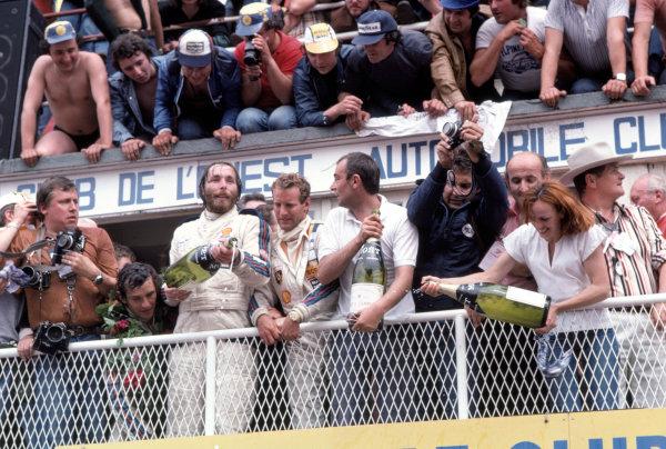 1977 Le Mans 24 hours.Le Mans, France. 11-12 June 1977. Jacky Ickx/Jurgen Barth/Hurley Haywood (Porsche 936), 1st position. Ref: 77LM07  World Copyright: LAT Photographic