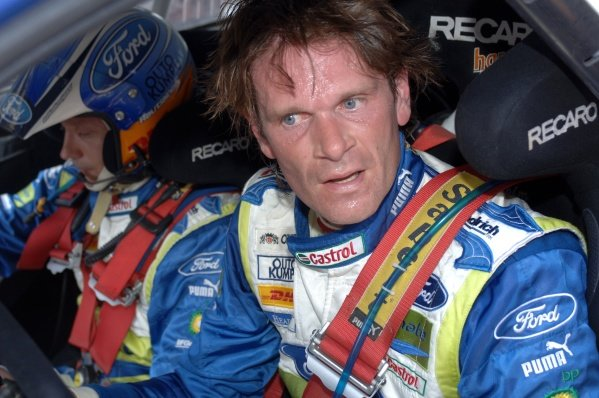 Rally leader Marcus Gronholm (FIN), Ford Focus WRC, at the end of Stage 14 (48.88km).FIA World Rally Championship, Rd8, Acropolis Rally of Greece, Athens, Greece, Day Two, Saturday 2 June 2007.DIGITAL IMAGE
