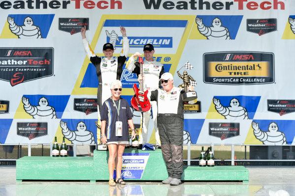 26-28 August, 2016, Alton, Virginia USA 3, Chevrolet, Corvette C7, GTLM, Antonio Garcia, Jan Magnussen celebrate the win on the podium ?2016, Scott R LePage  LAT Photo USA