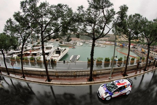 Bryan Bouffier (FRA) / Xavier Panseri (FRA)- Ford Fiesta RS WRC. FIA World Rally Championship, Rd1, Rally Monte Carlo, Day Three, Monte Carlo, 18 January 2014.